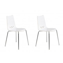 SPOON Lot de 2 chaises de...