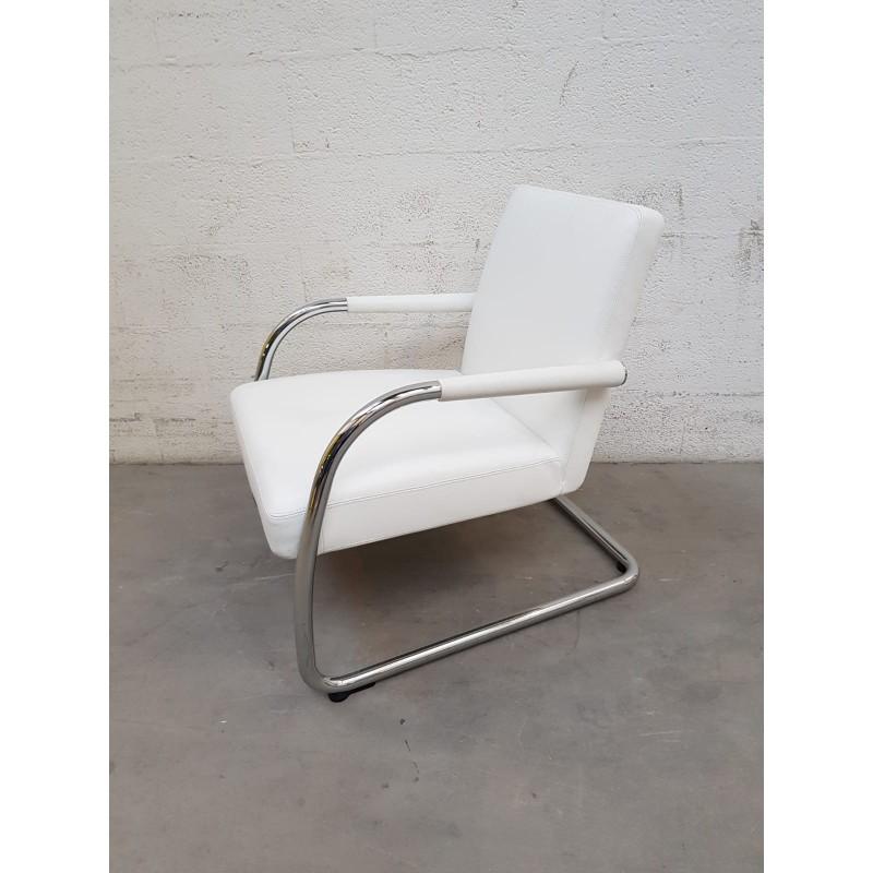 en cuir Chauffeuse Vitra Design blanc d'occasion dBCxeEQrWo