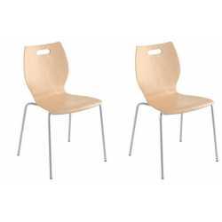 TIC Lot de 2 chaises 4 pieds