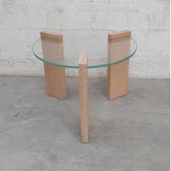 TABLE BASSE Verre / Bois